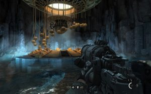 The player enters the Da'at Yichud Vault. Image credit: the Wolfenstein Wiki