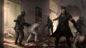 Nazi soldiers shut down the asylum in Poland. Image credit: IGN.com