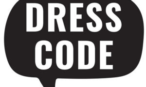 dress code word bubble